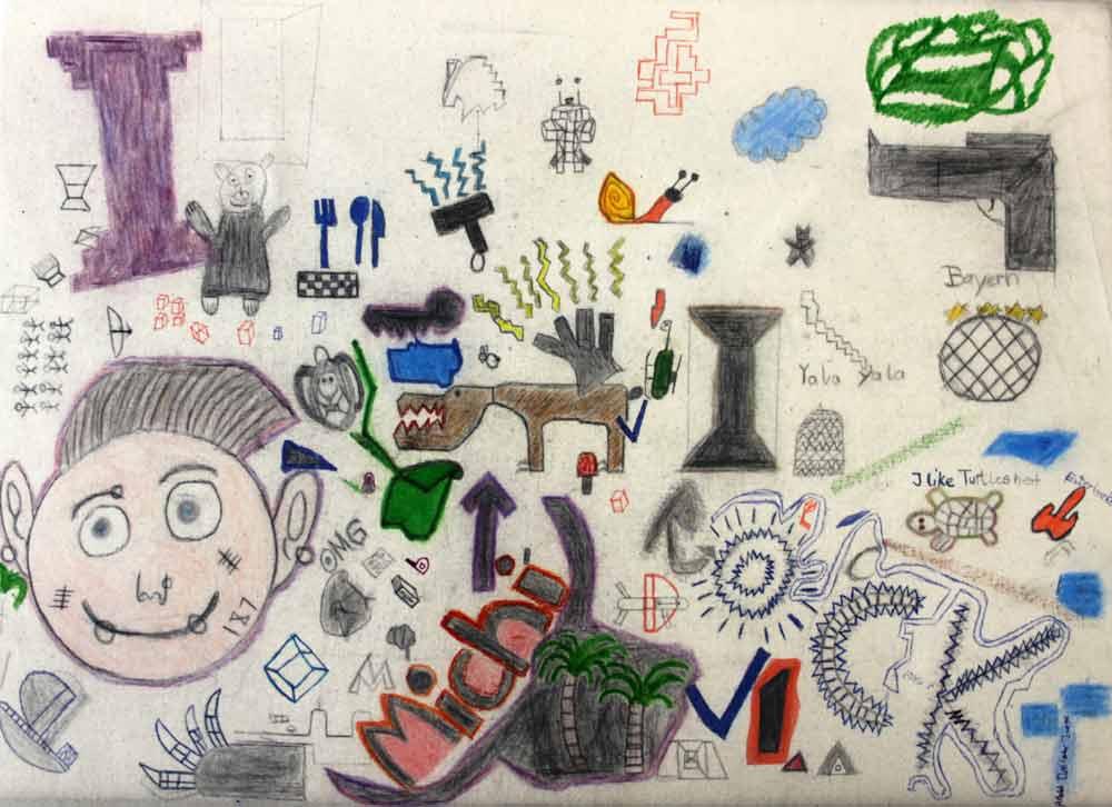 Ein Werk aus dem Projekt Frequencies, erstellt von einem Schüler der SABEL Wirtschaftsschule München