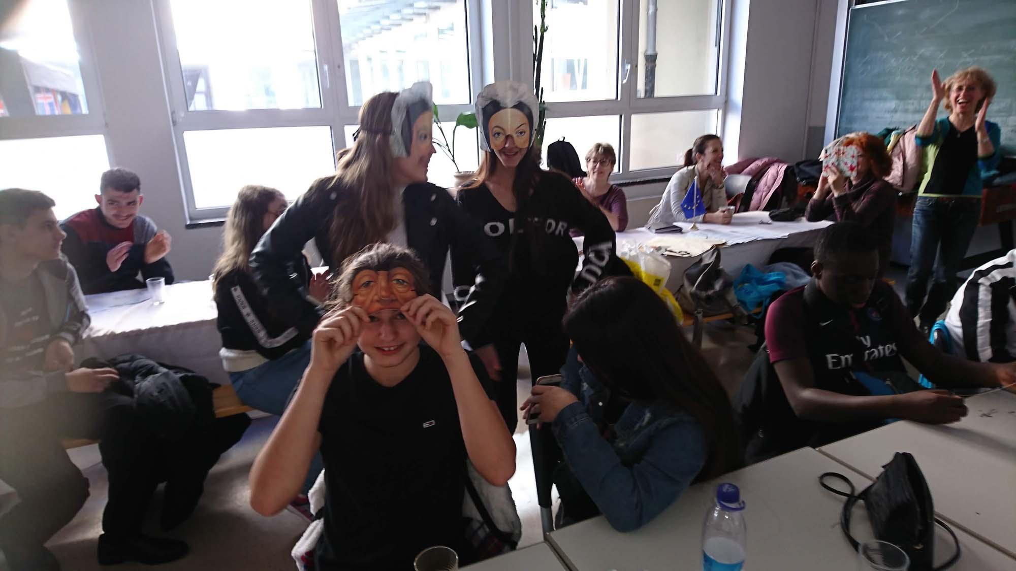Spaß während des Projektes im Rahmen des Erasmus Plus Programm mit der SABEL Wirtschaftsschule