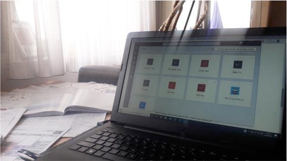 Online Unterricht an der SABEL Fachoberschule findet von zu Hause aus statt