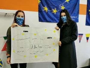 Schüler der SABEL FOS zeigen ihre Ergebnisse zu den Erasmus Days