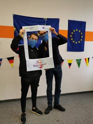 Schüler der SABEL FOS währen der Erasmus Days 2020