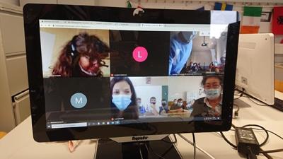 Video Call im Rahmen des Erasmus Plus Programms in Corona Zeiten